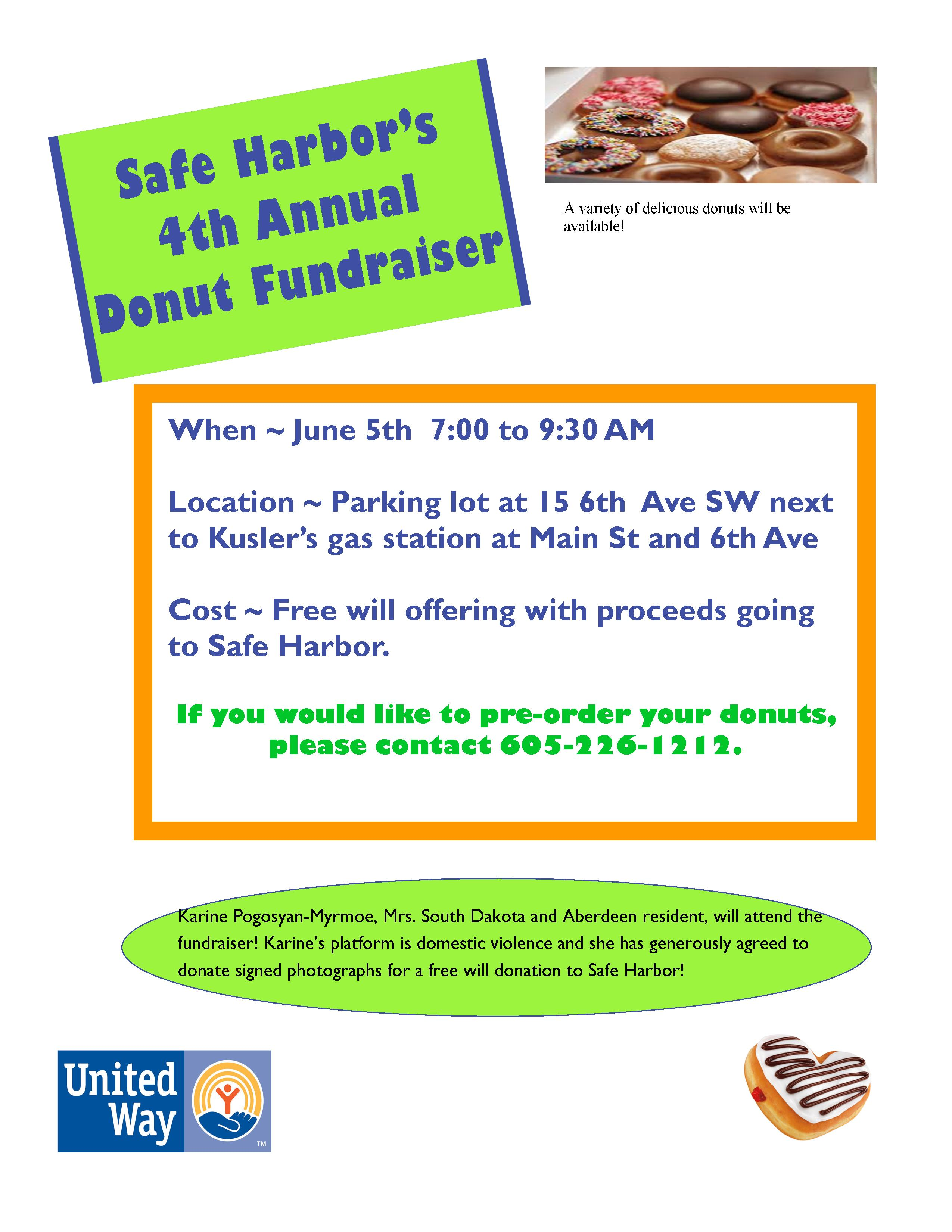 safe harbor s th annual donut fundraiser safe harbor donut fundraiser flyer 2015