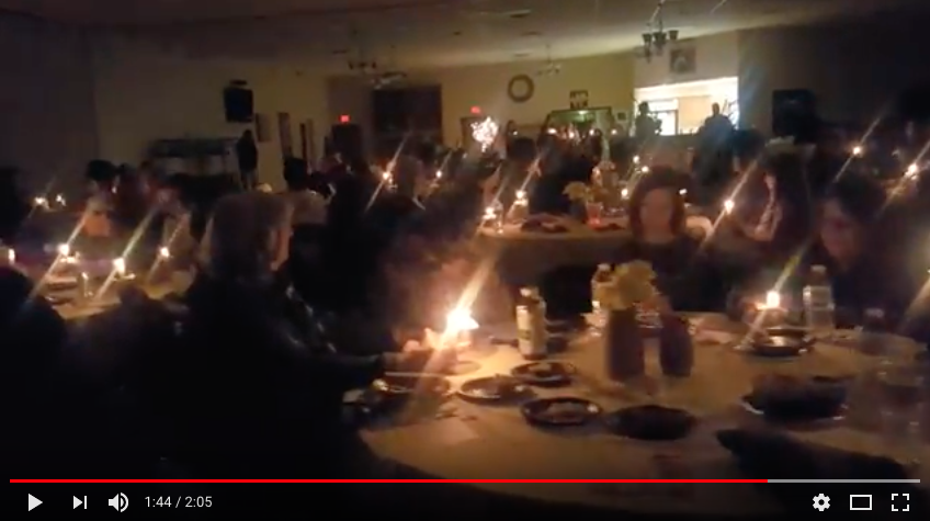 Aberdeen Fire & Rescue Pipe & Drums Corps perform at Safe Harbor annual soup and pie supper